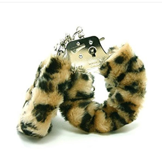 Fetish Fantasy Furry Cuffs in Leopard
