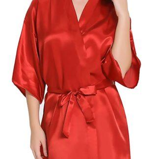 Women Satin Babydoll Kimono Nightwear Robe
