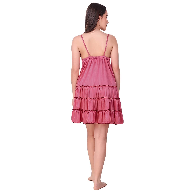 Nightwear Women Short Length Satin Nightdress
